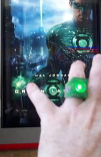 Bruces 'Green Lantern' ring