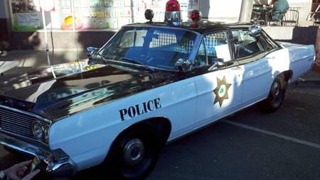 Menlo Park Block Party Police Car static display