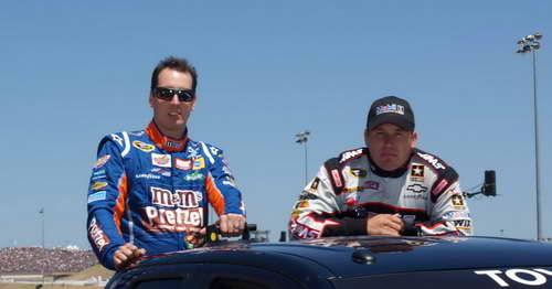 Kyle Busch and Ryan Newman at Infineon Raceway 6-26-11