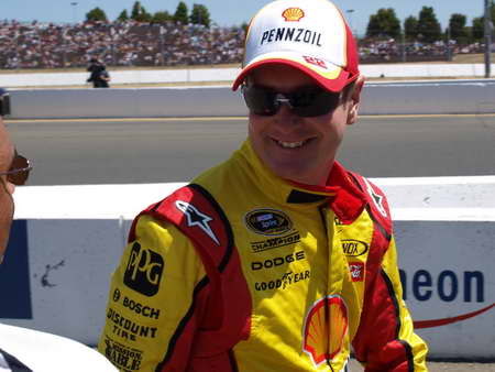 Kurt Busch in the pits at Sonoma 6-26-11