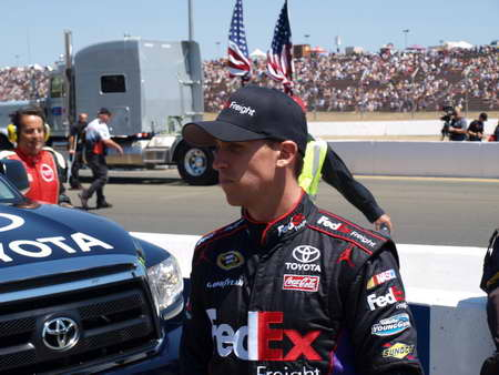 Denny Hamlin at Infineon Raceway