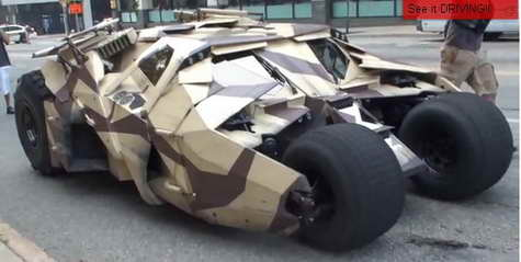 Batpod from Batman 3, 'The Dark Knight Rises' 01