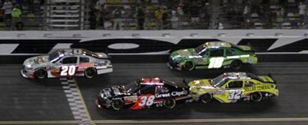 NASCAR Nationwide Series Daytona finish - Joey Logano