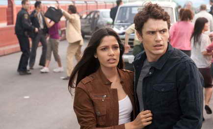 James Franco and Freida Pinto in RISE OF THE PLANET OF THE APES