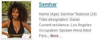 Survivor Semhar