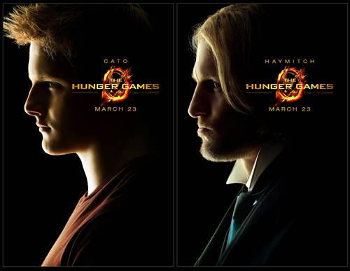 Cato and Haymitch from THE HUNGER GAMES movie