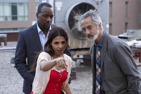 David Strathairn, Malik Yoba and Azita Ghanizada in 'Alphas'
