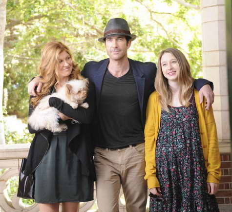 Dylan McDermott, Connie Britton and Taissa Farmiga in 'American Horror Story'