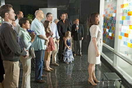 Jeanne Tripplehorn at her own wall, with Alan Ruck, Jeffrey Tambor and Taylor Kinney in FIVE