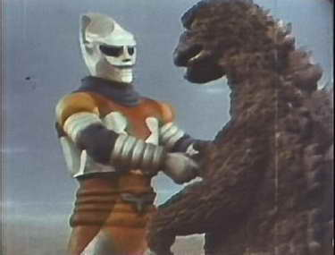 'Jet Jaguar' and 'Godzilla'