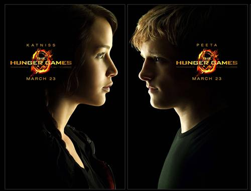Katniss and Peeta character sheets from THE HUNGER GAMES