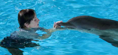 Nathan Gamble and Winter in 'Dolphin Tale'