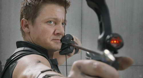 THE AVENGERS movie clip cap 15 - Jeremy Renner as Hawkeye
