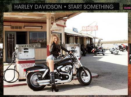 Marisa Miller - Harley Davidson
