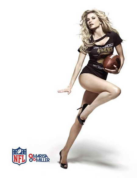 Marisa Miller - NFL 2011 spokesperson