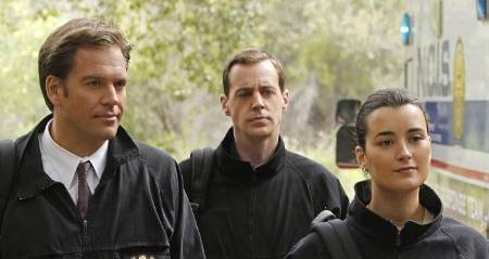Sean Murray, Michael Weatherly and Cote de Pablo in NCIS fr 2011