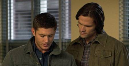 Jensen Ackles and Jared Padalecki in Supernatural ep Death's Door