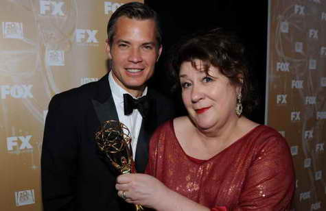 Justified gets an Emmy, Timothy Olyphant and Margo Martindale