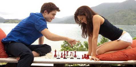 Kristen Stewart and Robert Pattinson in The Twilight Saga Breaking Dawn - Part 1