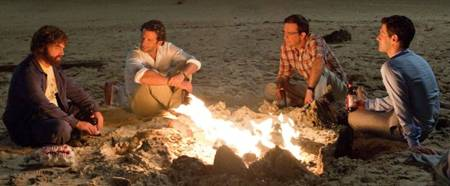 The Hangover Part II - Justin Bartha, Bradley Cooper, Zach Galifianakis and Ed Helms (On the beach where it starts)
