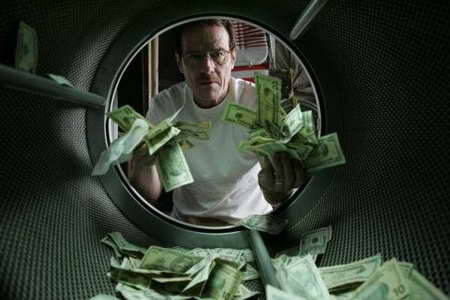 Bryan Cranston in Breaking Bad laundering money