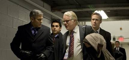 George Clooney, Philip Seymour Hoffman, Ryan Gosling and Max Minghella in The Ides of March