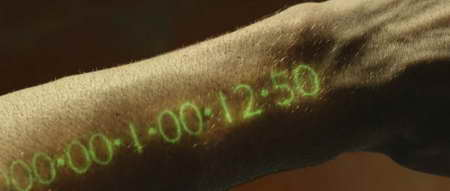In Time - Your Arm Clock showing 1 day, 12 hours and 50 minutes