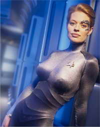 Jeri Ryan as Seven of Nine in Star Trek Voyager