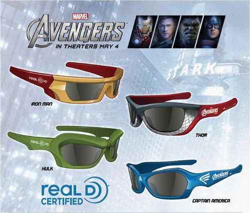 The Avengers 3D Glasses from Theatre Concessions