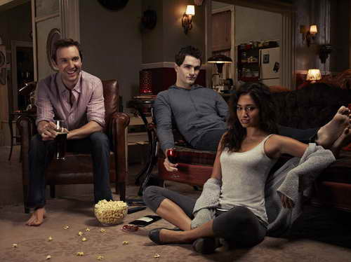 BEING HUMAN -- Season:2 -- Pictured: (l-r) Sam Huntington as Josh, Sam Witwer as Aiden, Meaghan Rath as Sally