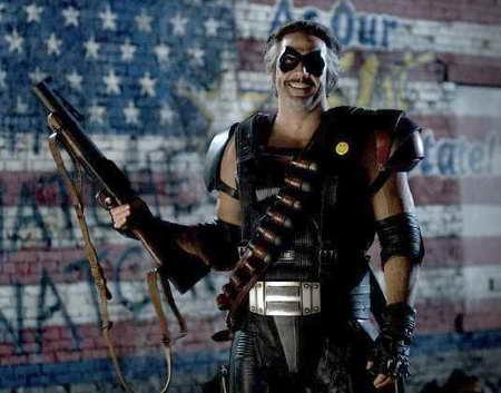 Jeffrey Dean Morgan in Watchmen as the Comedian