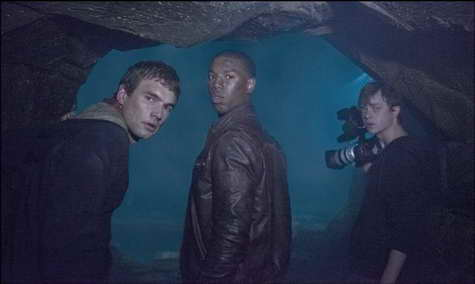 Michael B. Jordan, Dane DeHaan and Alex Russell in Chronicle - finding it in the cave