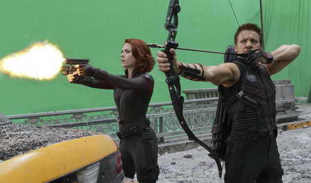 MARVEL'S THE AVENGERS, Scarlett Jhansson and Jeremy Renner