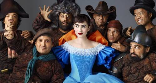 'Mirror Mirror' Lily Collins and the dwarfs