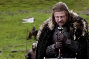 Sean Bean as Eddard Stark in 'Game of Thrones'