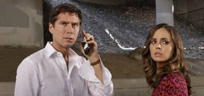 Alexis Denisof and Eliza Dushku in Dollhouse