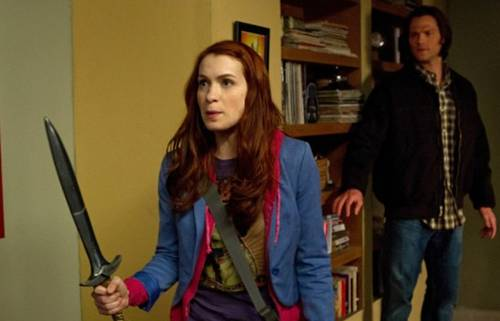 Jared Padalecki and Felicia Day in 'Supernatural'