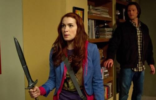 Jared Padalecki and Felicia Day in 'Supernatural'