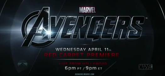 'The Avengers' LIVE Red Carpet Premiere event