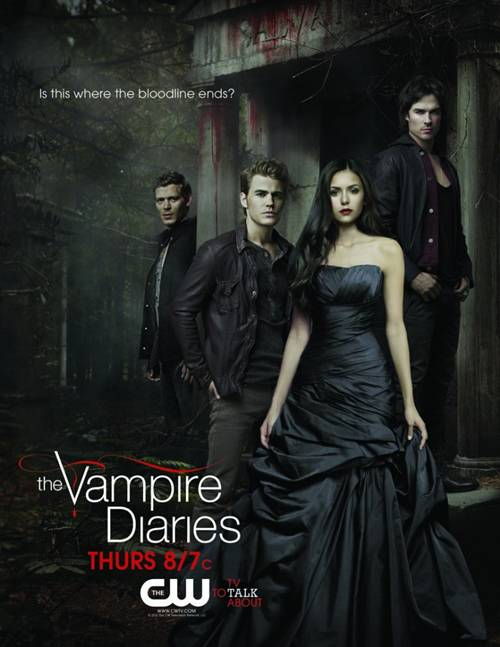 'The Vampire Diaries' OneSheet for May Sweeps with L-R:  Joseph Morgan, Paul Wesley, Nina Dobrev & Ian Somerhalder