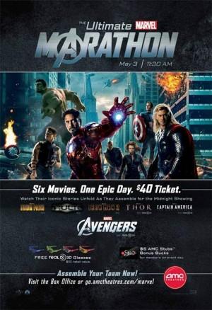 Ultimate Marvel Marathon onesheet