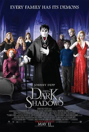 'Dark Shadows' starring Johnny Depp - movie poster
