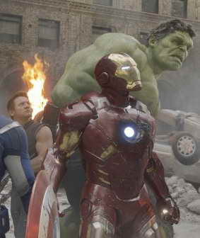 Iron Man, Hawkeye and Hulk in THE AVENGERS