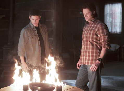 Jensen Ackles and Jared Padalecki in Supernatural, a review of the season finale