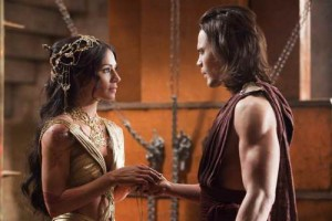 Lynn Collins and Taylor Kitsch in &#039;John Carter,&#039; coming to Blu-ray and DVD