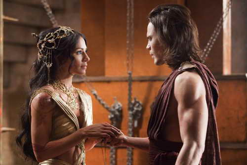 Lynn Collins and Taylor Kitsch in 'John Carter,' coming to Blu-ray and DVD