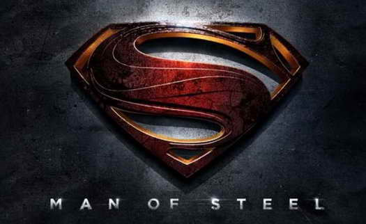 'Man of Steel' Banner logo starring Henry Cavill with Michael Kelly
