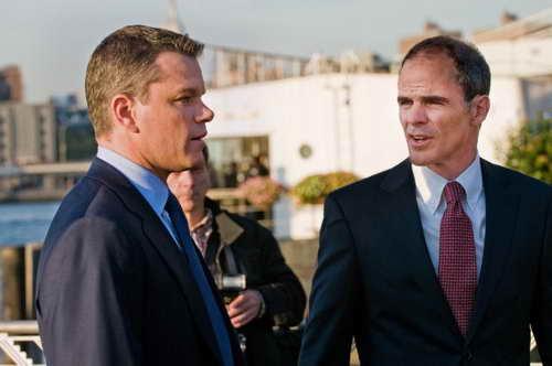 Matt Damon and Michael Kelly in 'The Adjustment Bureau'