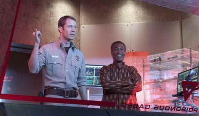 Colin Ferguson as Jack Carter, Joe Morton as Henry Deacon in Eureka - Season 5