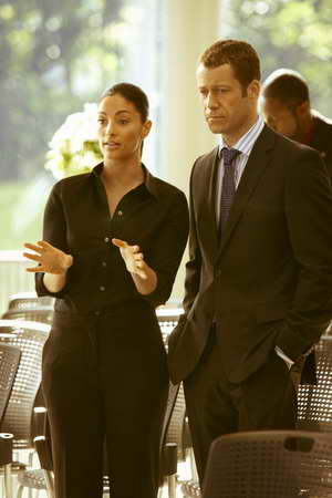 Eureka - Season 5 - Erica Cerra as Jo Luppo, Colin Ferguson as Jack Carter